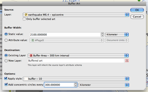 Example with Buffer Art (1): Settings