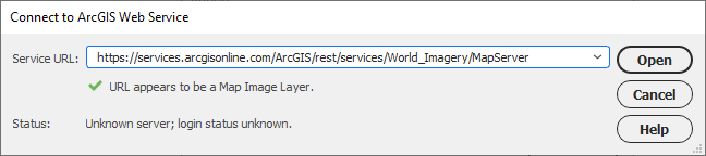 connect-arcgis-service-valid